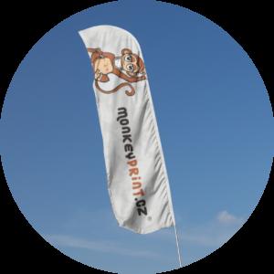 beach flag reklamní banner